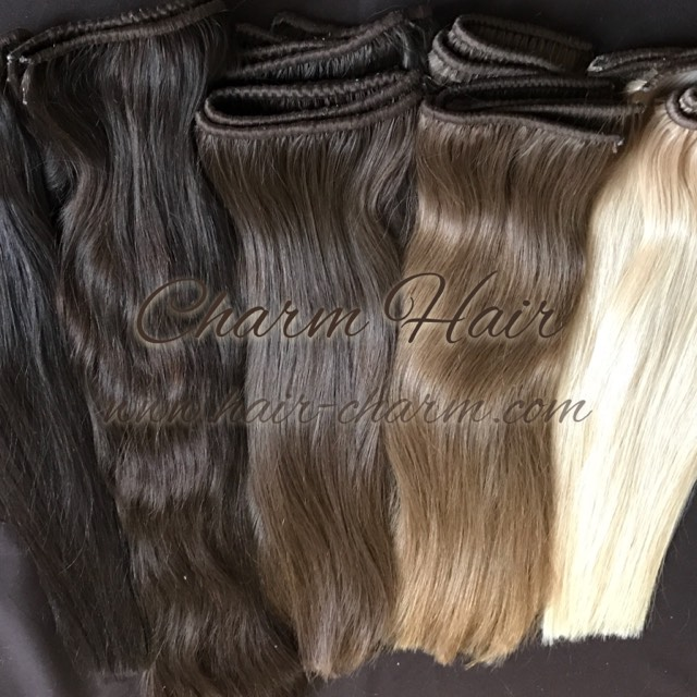 Weft Hair Extensions Russian Hand Tied Wefts